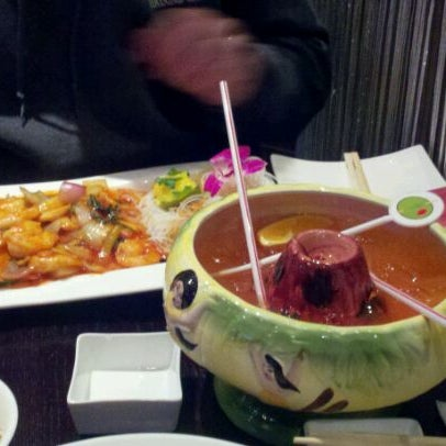 Photo taken at Ruyi Asian Fusion by Andrea B. on 2/18/2012
