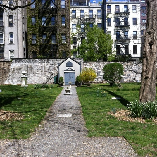 Photo taken at New York City Marble Cemetery by Siobhan Q. on 4/8/2012