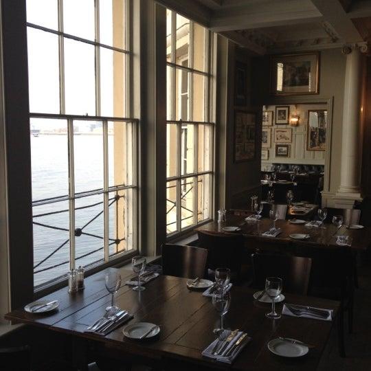 Photo taken at Trafalgar Tavern by Mark L. on 3/1/2012
