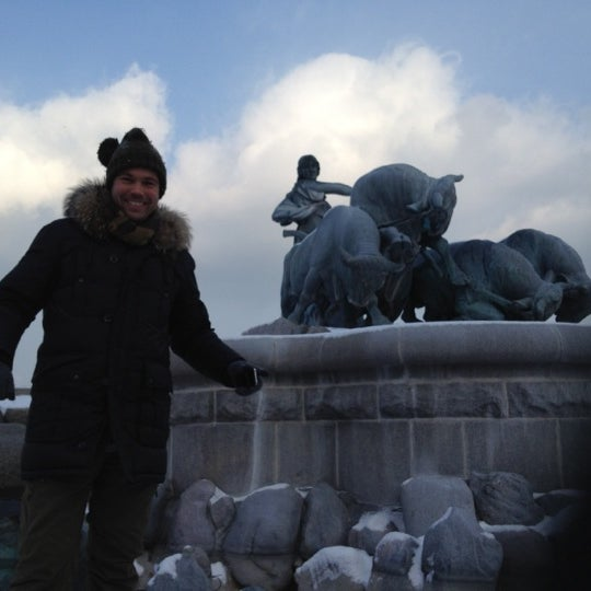 Photo taken at Gefion Fountain by Christian Ø. on 2/5/2012