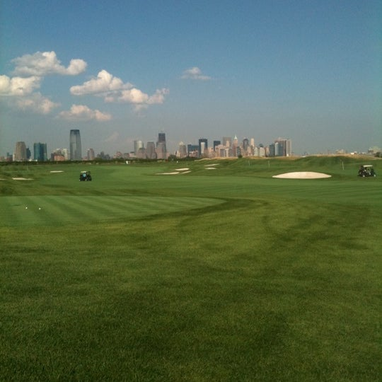 Photo taken at Liberty National Golf Course by Jason O. on 8/20/2011