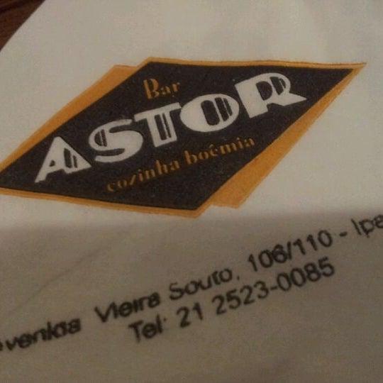 Photo taken at Bar Astor by Fernanda S. on 11/26/2011
