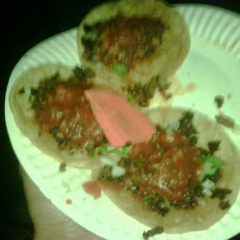 Photo taken at Angelica's Taqueria Taco Truck by Sheridon J. on 10/10/2011