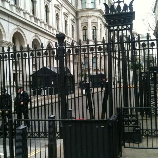 Photo taken at 10 Downing Street by Joe T. on 2/27/2012