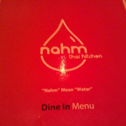 Photo taken at Nahm Thai Kitchen by Mina V. on 11/10/2011