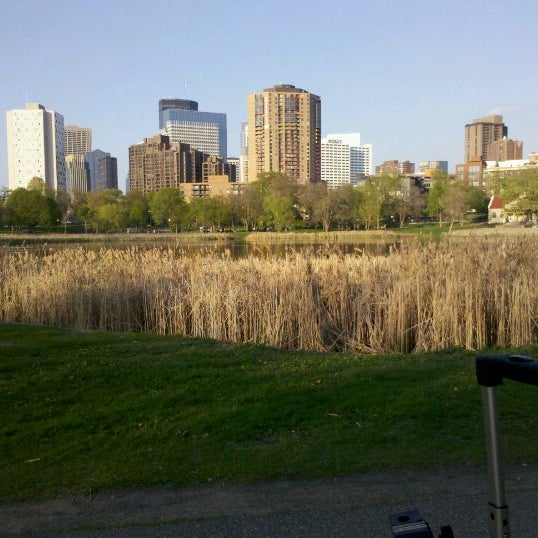 Photo taken at Loring Park by Morgan J. on 4/25/2012
