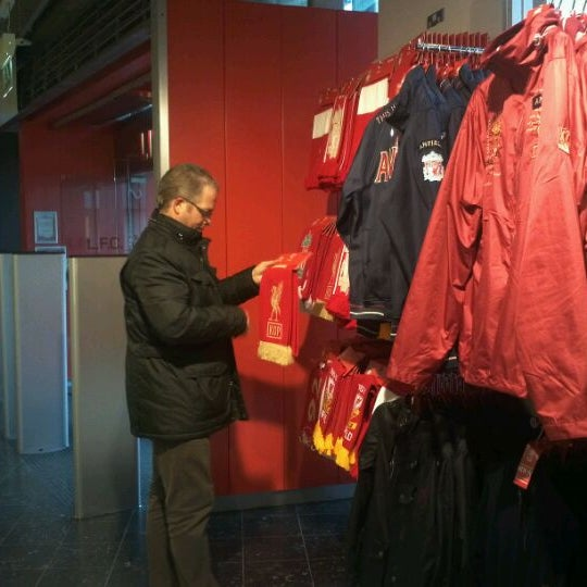 Photo taken at Liverpool FC Official Club Store by Carolina P. on 2/2/2012