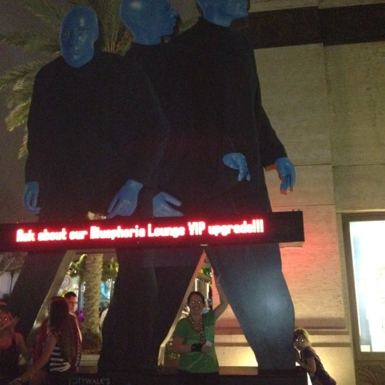 Photo taken at Blue Man Group at Universal CityWalk by Chris A. on 3/11/2012