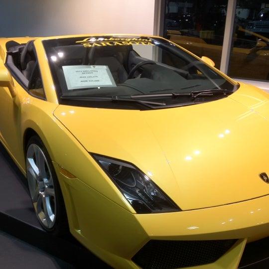 Photo Taken At Lamborghini Of Sarasota By Tom Z. On 12/8/2011