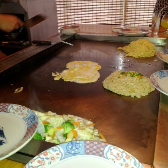 Photo taken at Mt. Fuji Japanese Steak House by Mike D. on 5/30/2012