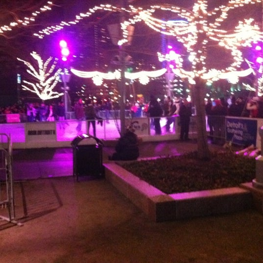 Photo taken at Campus Martius by Niki R. on 1/1/2012