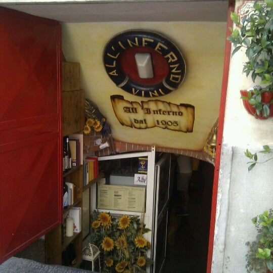 Photo taken at Osteria All'Inferno Dal 1905 by Ruggero on 8/4/2011