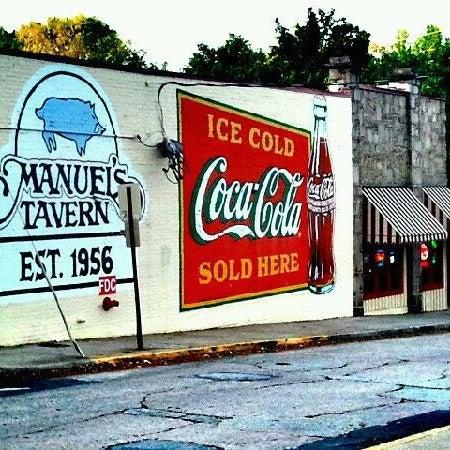 Photo taken at Manuel's Tavern by Brandon L. on 4/9/2012