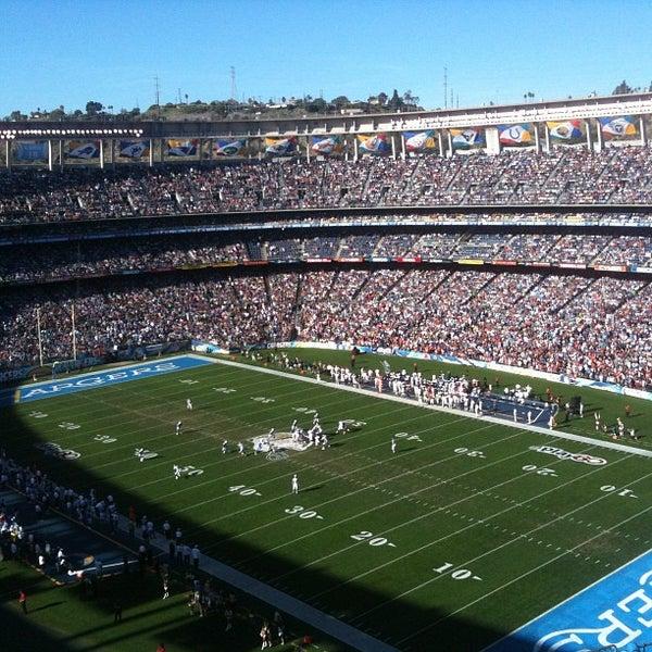 Photo taken at Qualcomm Stadium by Rafael G. on 11/27/2011