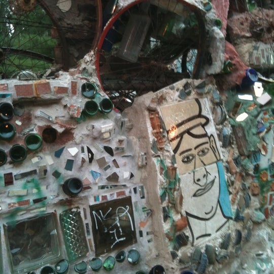 Photo taken at Philadelphia's Magic Gardens by Linda W. on 7/23/2011