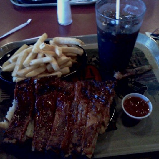 Photo taken at Gates Bar-B-Q by Trilby W. on 9/23/2011
