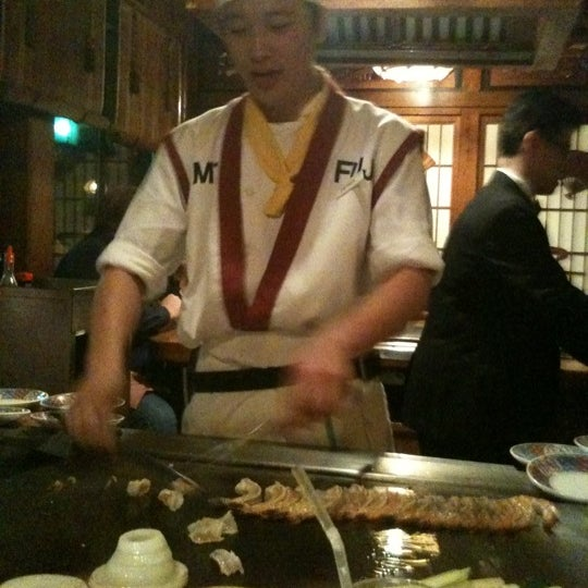 Photo taken at Mt. Fuji Japanese Steak House by Stephen O. on 10/9/2011