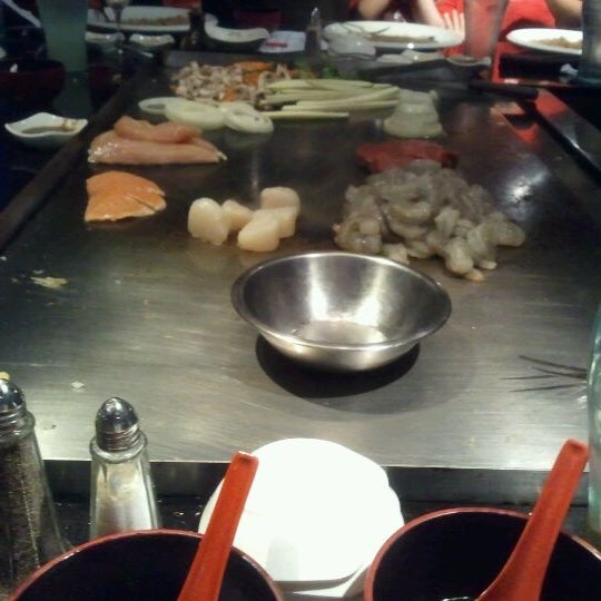 Photo taken at Aomi Japanese Steakhouse by Rosena M. on 4/11/2012