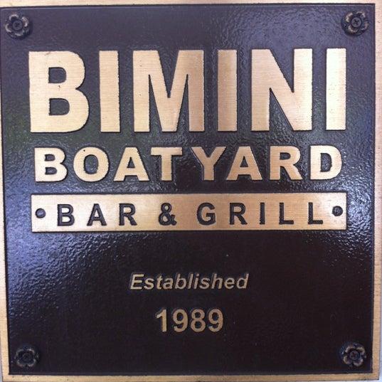 Photo taken at Bimini Boatyard Bar & Grill by Kimmie on 8/19/2012