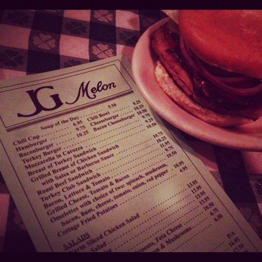 Photo taken at J.G. Melon by Marie L. on 6/30/2012
