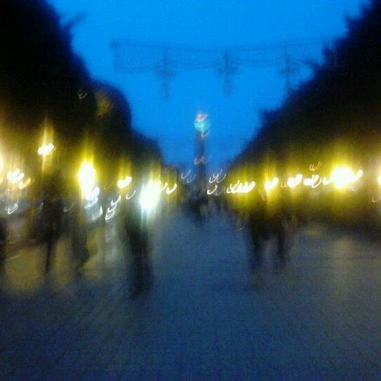 Photo taken at Avenue Habib Bourguiba by Nabil B. on 5/4/2012