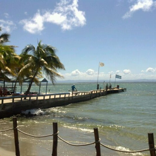 Photo taken at Playa El Yaque by choco p. on 10/30/2011