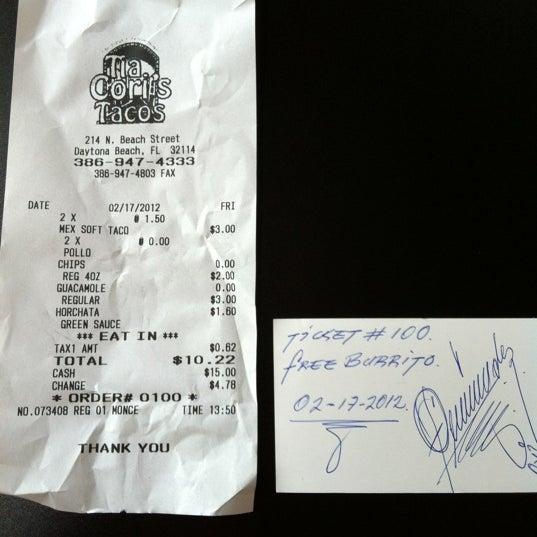 Photo taken at Tia Cori's Tacos by Victoria M. on 2/17/2012