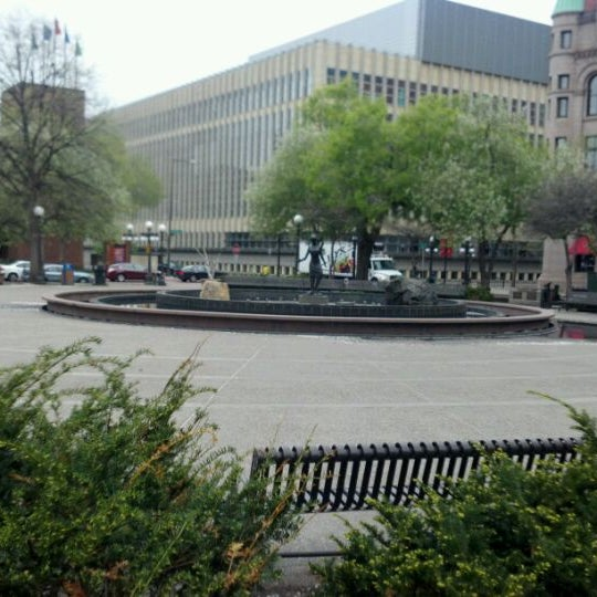 Photo taken at Rice Park by James K. on 4/17/2012