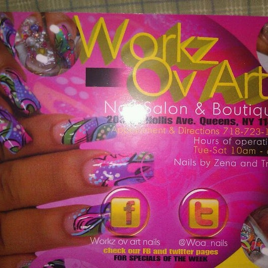WORKZ OV ART Nail Salon & Boutique - Spa in Queens