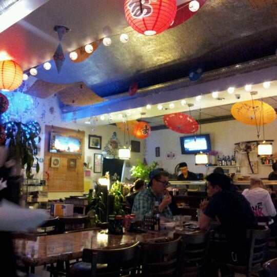 Photo taken at Sushi Tomo by rio P. on 2/7/2012
