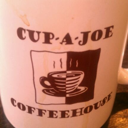 Photo taken at Cup-A-Joe Coffee House by Paul M. on 2/4/2012