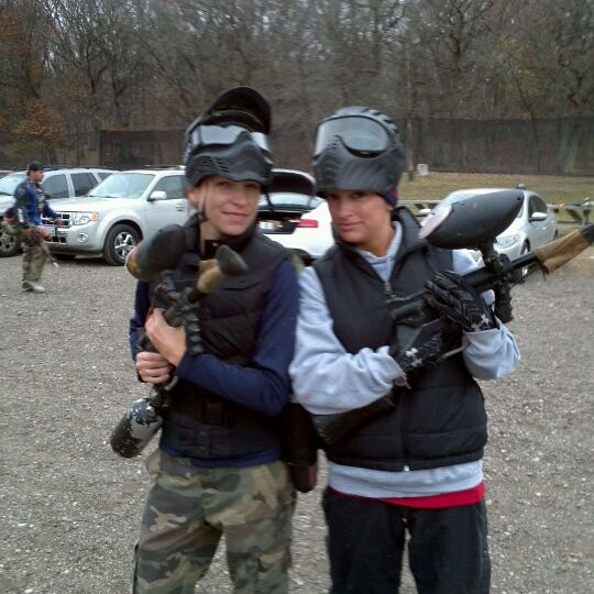 Photo taken at Badlandz Paintball Field by Kate H. on 11/6/2011
