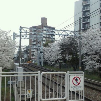 Photo taken at Hankyu Minami-ibaraki Station (HK68) by nullpop on 4/10/2012