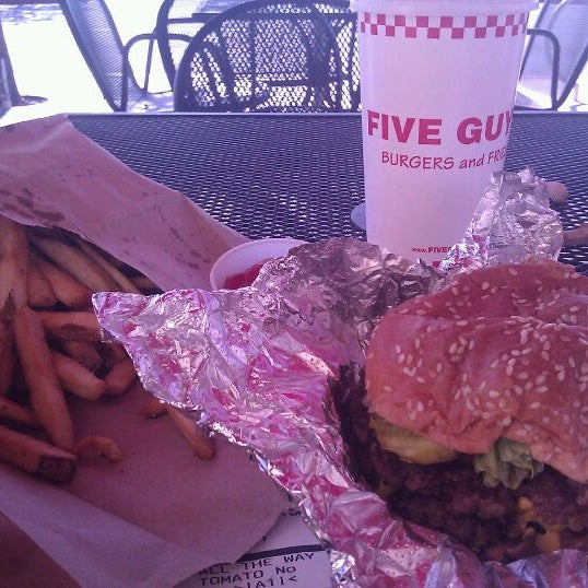 Photo taken at Five Guys by Kirk D. on 12/2/2011