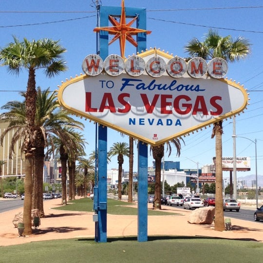 Photo taken at Welcome To Fabulous Las Vegas Sign by Jeffy G. on 6/10/2012