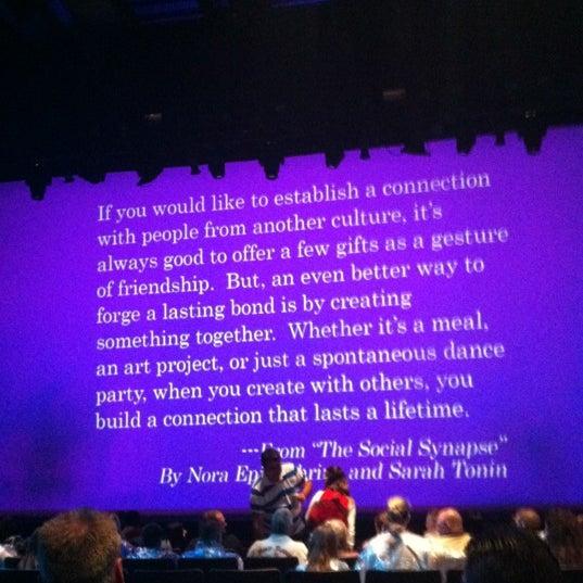 Photo taken at Blue Man Group at Universal CityWalk by Megan T. on 4/15/2012
