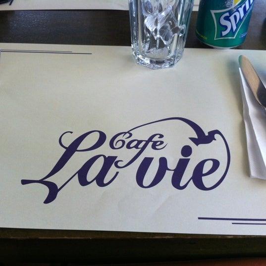 Photo taken at Cafe La Vie by Ezgi T. on 6/13/2012