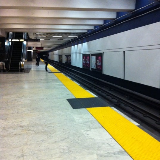 Photo taken at Civic Center/UN Plaza BART Station by B. C. on 3/8/2011