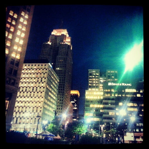 Photo taken at Campus Martius by Alex L. on 8/15/2012