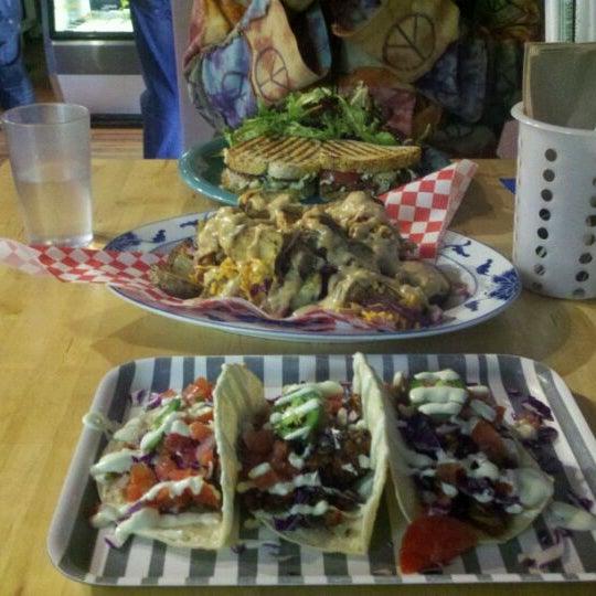 Photo taken at Sugar Plum Vegan Cafe by Stevenology on 11/8/2011