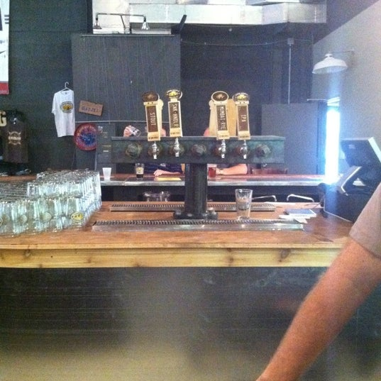 Photo taken at Good People Brewing Company by Chaz M. on 9/28/2011