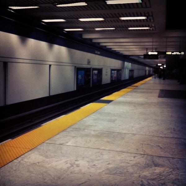 Photo taken at Civic Center/UN Plaza BART Station by Evangeline B. on 10/16/2011