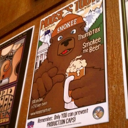 Photo taken at Moose's Tooth Pub & Pizzeria by Nathan T. on 8/22/2012