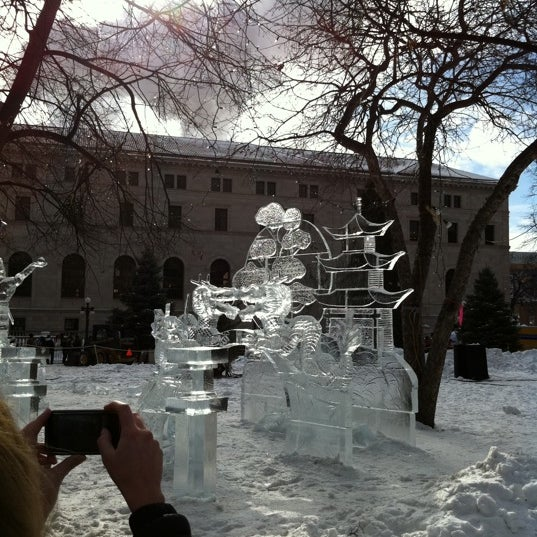 Photo taken at Rice Park by Garrio H. on 1/30/2011