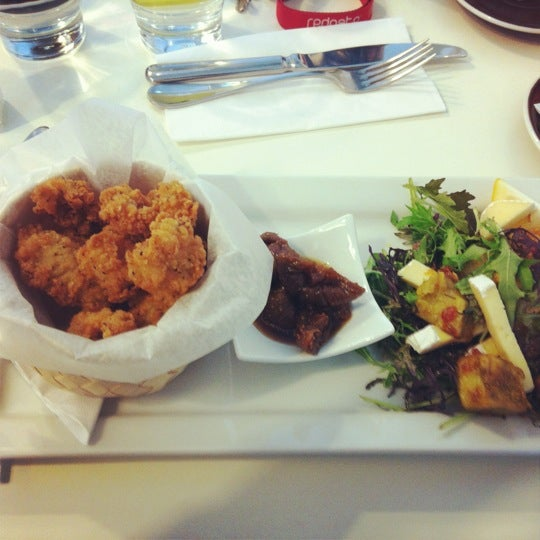 Try the salt and pepper squid. So yummy. Figs are delish too!