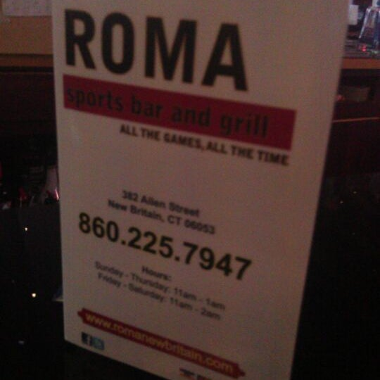 Photo taken at Roma Sports Bar & Grill by Stacey Lynn G. on 5/22/2012