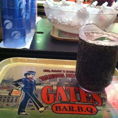 Photo taken at Gates Bar-B-Q by M T. on 8/14/2012