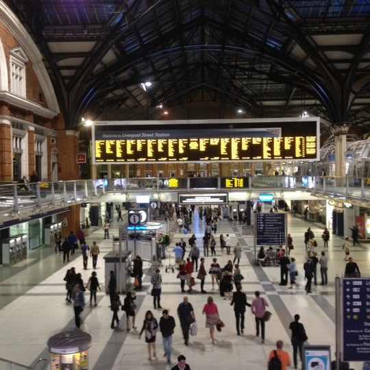 Photo taken at London Liverpool Street Railway Station (LST) by Bud F. on 6/20/2012
