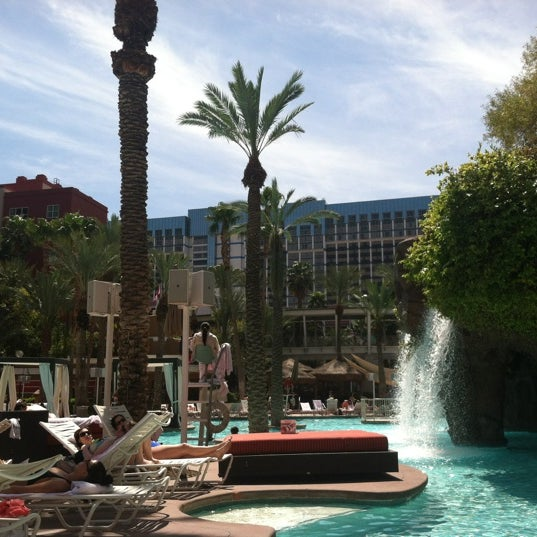 Photo taken at Flamingo GO Pool by Bill J. on 4/12/2012