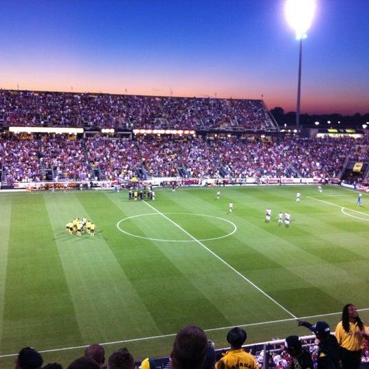 Photo taken at MAPFRE Stadium by Melissa M. on 9/12/2012